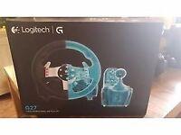 Logitech G27 steering wheel, foot pedal and shifter,still under warranty mint condition