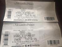 2 x Phoenix tickets @ Alexandra Palace - Sat 30th Sept (face value)
