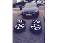 "VW GOLF mkvi 6 TDI (FULL VWSH) Geniune 18"" gti monza alloys 62 plate"