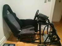 Used Racing simulator cockpit for Thrustmaster