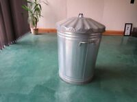 Galvanised Bin. Good Condition - Rubbish Receptical! Clean Condition.