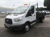 Ford Transit 350 L2 2.2 Tdci 125Ps Tipper DIESEL MANUAL WHITE (2014)
