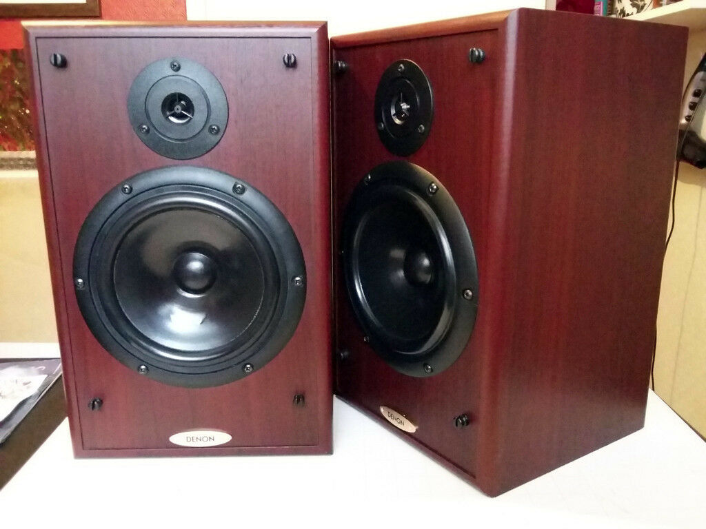 Denon SC E313SE Bookshelf Speakers Special Edition Quality 65 Inch Peerless Drivers