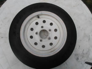 Titan ST Trailer Tires on Rims (2)