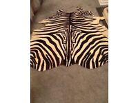 Large Genuine Zebra Rug , Floor Wall Covering