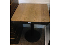 table for restaurant home cafe vintage retro wood metal base