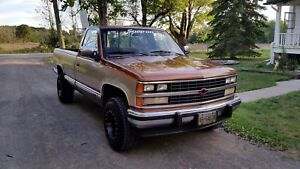 1989  Chevrolet C1500 Long Box Silverado trim 2WD 5.7L