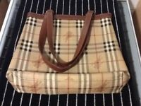 Burberry style bags x 2