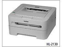 Brother HL-2130 A4 USB Desktop Mono Laser Printer,FREE USB & POWER CABLE AS PIX