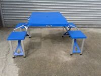 Folding camping table with chairs