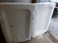 White Shower Trays-Unused.