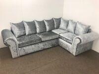 Elegance crushed velvet sofa