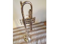 Trumpet, silver in coulour, with carrycase, in perfecr condition