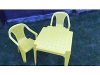 Kids Plastic table & chairs set