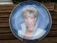For Sale A commemorative Plaque of Diana, Princess of Wales with 19961-1997 and Tribute on back
