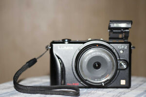 Panasonic Lumix GF2 with 3 lenses and extras