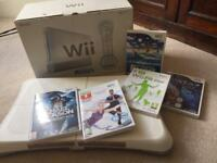 Nintendo Wii console and balance board