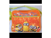 New minion messenger school bag
