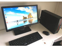 FULL PC Very Fast - Intel QuadCore - 1Tb - HD Graphics - Win10 - 2x HDMI - Wireless Keyboard/Mouse