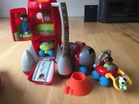 Early Learning Centre ELC Rocket Ship, Moon Buggy trailer and Characters