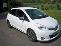 Toyota Yaris 1.3 VVT-I TREND FULL SERVICE HISTORY AIR CONDITIONING AND BLUETOOTH (white) 2013