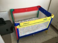 Travel cot, which can be used as a playpen