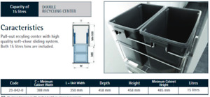 Brand new slide out waste bins