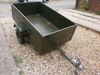 trailer car camping box trailer refurbished