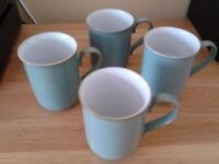 Set of 4 Regency Green Denby Pottery Mugs