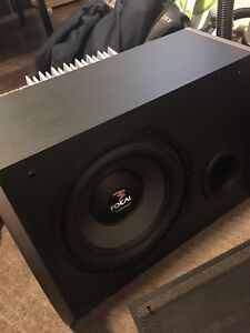 """FS: focal 10"""" sub with amp and custom box"""