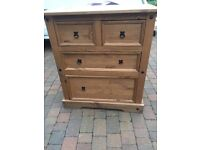 heavy solid wood chest of draws