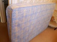 Clean and unmarked 4ft 6in double sprung mattress in like new condition