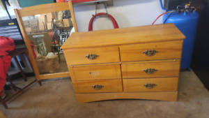 DRESSER WITH MIRROR FOR $50