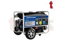 Jefferson 3.0kW 7hp Petrol Generator Electric Key Start Anti Voltage Regulator