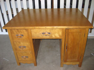 Charming Old Wooden Office Desk with a lot of character