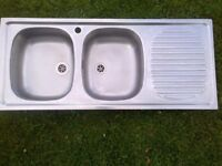 large Franke double bowl kitchen sink in very good condition