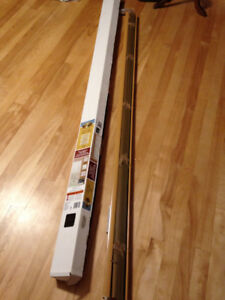 "Window blinds, 70"" wide, height is adjustable."