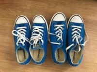 Converse All-Stars - Bright blue, UK sizes 6 and 8, £12 per pair