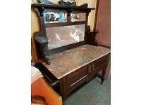 Vintage Marble Top Wash Stand