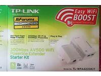 tp-link 300mbps av500 wifi powerline extender starter kit