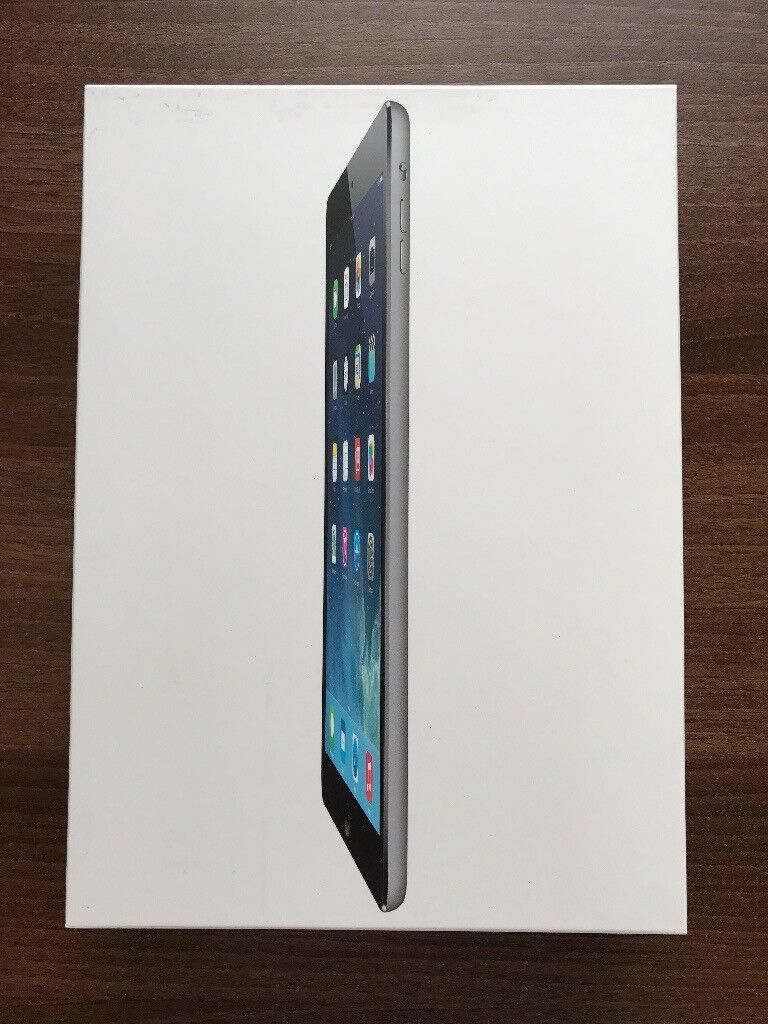 Apple iPad Air Wi Fi 32GB Space GreyExcellent ConditionFully Boxed and Completein Wanstead, LondonGumtree - Apple iPad Air Wi Fi 32GB Space Grey In perfect condition, absolutely no marks or scuffs, the iPad looks as good as news. From day one I have always had the iPad in a fully covered Apple Smart Case. The iPad is in absolutely perfect working order, no...