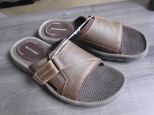 Sandals, brown leather Rockport, size 11, NEW