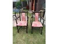 2 carver chairs