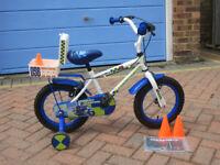"Apollo Kids Police Patrol Bike with stabilisers 14"" wheels"