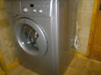 Silver Indesit Washer-Dryer IWDD7143S