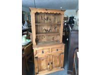Attractive Rustic Pitch Pine Country/Farmhouse Kitchen/Welsh Dresser