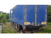 45ft tri axle box trailer