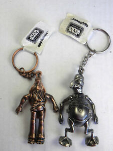 STAR WARS 1999 EPISODE 1 METAL KEYCHAINS ~ JAR JAR BINKS ~ WATTO
