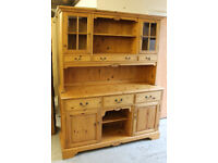 Victorian style solid, honey coloured, pine dresser