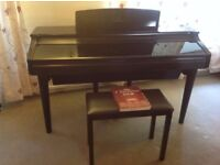 Ebony Yamaha Clavinova CVP-96 piano with free stool